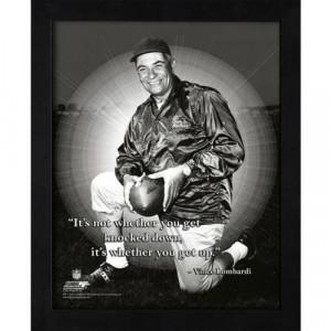 Vince Lombardi Green Bay Packers (Kneeling) Framed 11x14