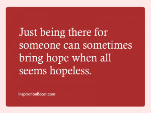 quotes about being there for someone