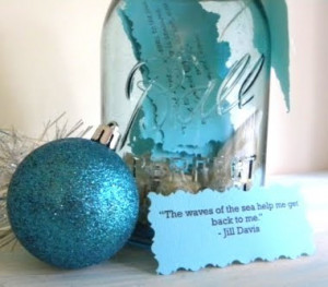 Craft Ideas Quotes on An Inspirational Jar With Sea Sayings And Quotes