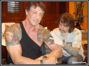 Sylvester Stallone Tattoos on Body