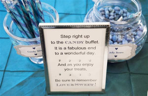 Wedding Candy Bar Sayings Wedding Candy Buffet Sayings