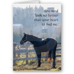 Pet Loss Sympathy Card for Horse Lovers http://www.zazzle.com/pet_loss ...