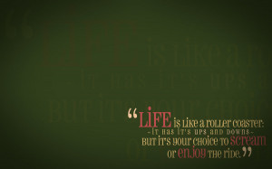 Life Quote Wallpaper by Sam-Dragon
