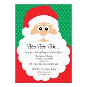 Cute Santa Christmas Holiday Party Invitation
