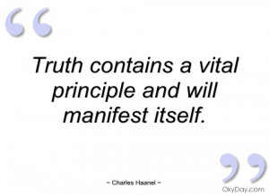 truth contains a vital principle and will charles haanel