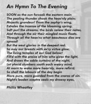 Phillis Wheatley Famous Poems