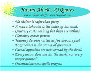 Sayings of Imam Hazrat Ali, Islamic Quotes in English