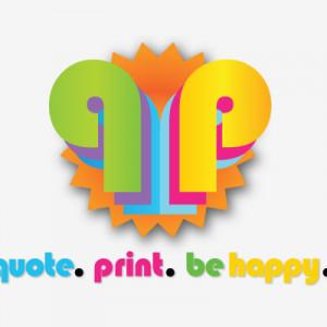 Logo/Tagline: Quote. Print. Be Happy.