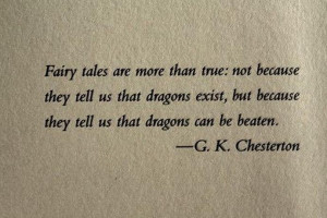 Inspirational Quote: Dragons can be beaten