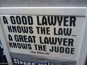 Good lawyer knows the law