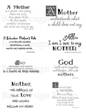 QUOTES ABOUTS MOTHERS for Mother's Day cards by BaerDesignStudio