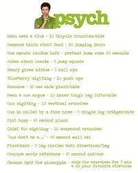Psych Workout - pretty sure this would kill me.