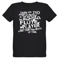 Funny Flute Player Organic Kids T-Shirt (dark) for