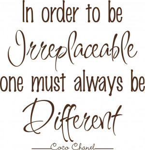 Coco Chanel quotes...