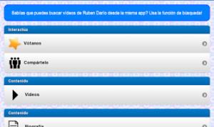 Screenshot of Ruben Dario Poems and Quotes