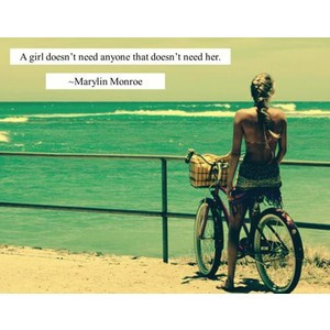 marilyn monroe, sayings, quotes, about girls, beach