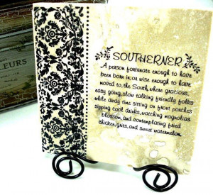 Southerner Sayings Fried Chicken Grits and by mydecor8 on Etsy, $9.95