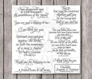 Friendship Scripture Digital Word Art--Scriptures & Sentiments for ...