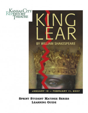 king lear blindness William shakespeare's king lear incorporates many themes, some which are even a recurring pattern throughout the play the matter of vision and insight, or even the.