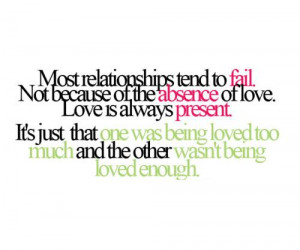 Relationships Tend To Fail