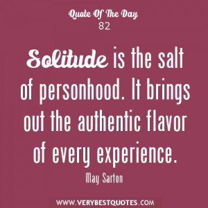 Solitude Poems And Quotes