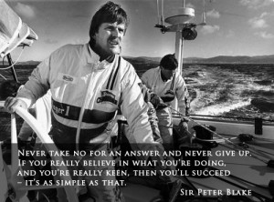 Sir Peter Blake quote