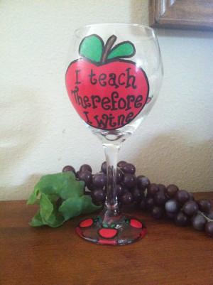 Teacher wine glass End of year teacher gift Teacher gifts Teacher ...