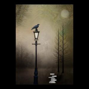Poe Inspired Art Print -- Quote the Raven -- 8 x 10 | cmzart - Print ...