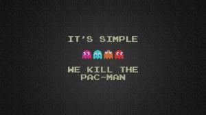 video games text humor cubes Pac-Man squares retro games pixel art ...