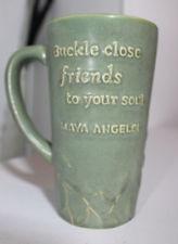 Hallmark Maya Angelou Large Ceramic Coffee Mug Cup Green 16 Oz Friends ...
