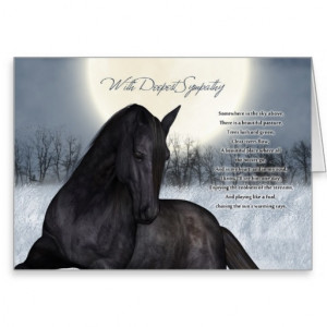 Pet Horse Sympathy Card, Loss Of Pet Horse