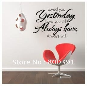 Free Shipping! Wholesale And Retail quote wall stickers, BIG LOVED YOU ...