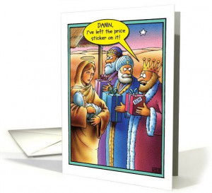 ... Tag Wise Men Funny Christmas card (1090282) by Nobleworks Funny Cards