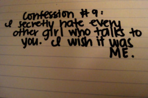 confession, handwriting, hate, love, nine, paper, quote, secret, talk ...
