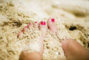 Walk in the sand any chance you get to continue your exfoliation ...