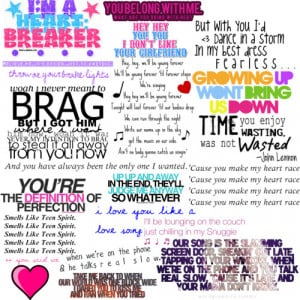 One Direction Song Lyric Quotes