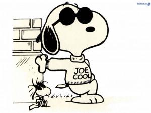 Peanuts snoopy is joe cool