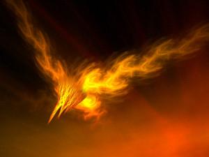 sacred Fire Bird, to the Sun take flight,
