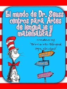 Dr. Seuss Unt in Spanish!!! 6 games!!!Recipe sequence, singular/plural ...