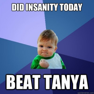 Insanity Workout Funny Room doing funny jumps and