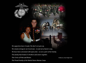 next quote was written by myself back in 2004 dedicated to my Marine ...