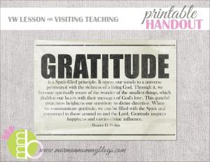 Lds Gratitude Quotes Free lds handout on gratitude