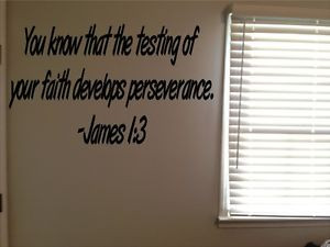 ... Bible-Verse-Christian-Perseverance-Test-Vinyl-Wall-Decal-Quote-Sticker