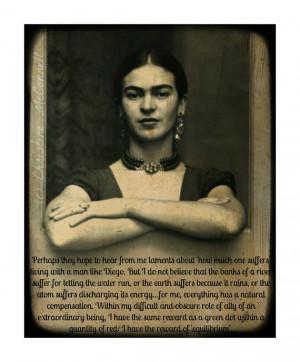 Frida Kahlo Art Print Quote Original Digital 8x10 by ARTDECADENCE, $18 ...