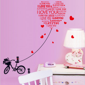 love you quotes wedding decoration wedding stickers wall sticker ...