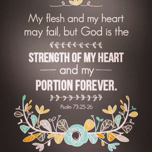 The Lord is my strength!