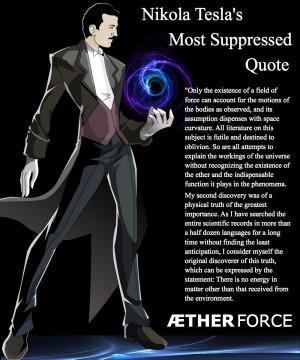 Tesla had moved beyond electrical engineering to Aetheric engineering ...