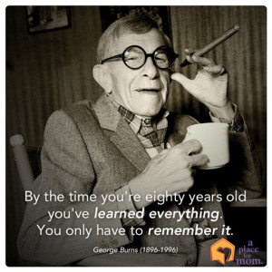 Citizenship Quotes By Famous People George burns quote