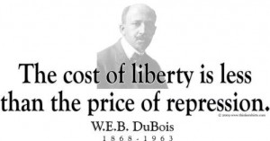 ThinkerShirts.com presents W.E.B. Dubois and his famous quote