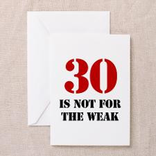 30th Birthday Gag Gift Greeting Cards (Pk of 20) for